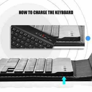 Wireless Bluetooth Keyboard With Leather