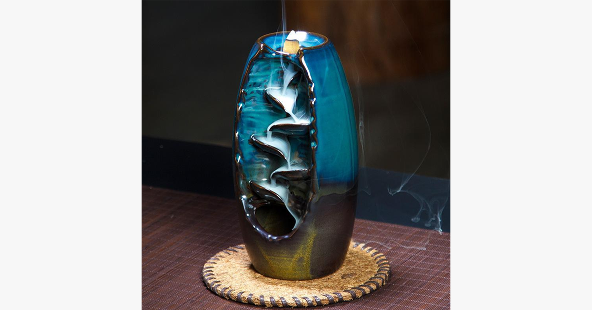Aromatherapy Mountain Waterfall Incense Burner