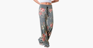 Women's Loose-Fit Floral Pants