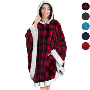 Winter Warm Pocket Hooded Blankets