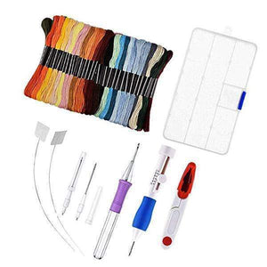 RAİNBOW COLOR EMBROİDERY THREADİNG TOOL 136 SETS