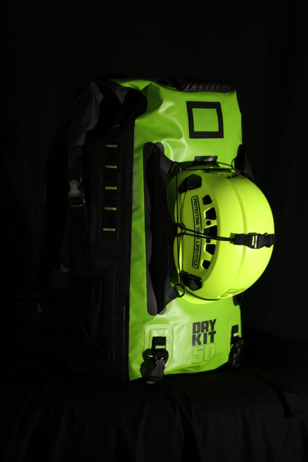 Arbortec Python with a helmet attached.