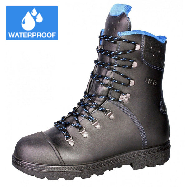 Haix Blue Mountain Chainsaw Boots with waterproof badge