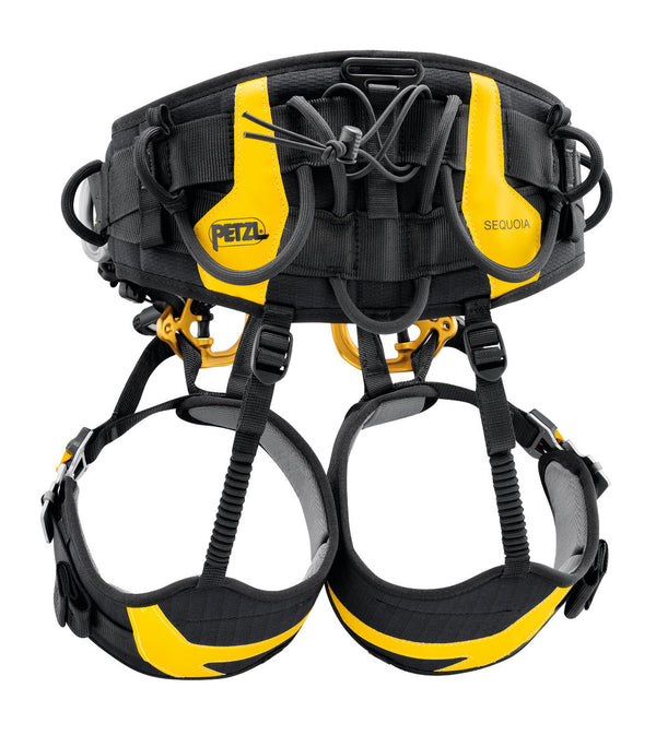 Petzl Sequoia SRT Climbing harness rear view.