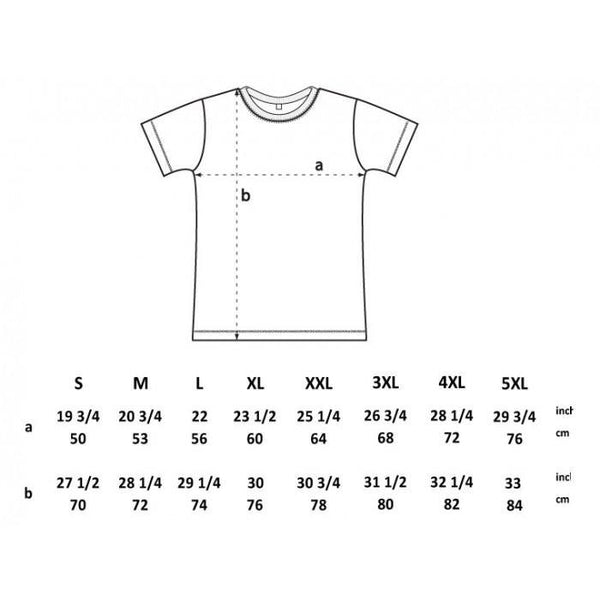 Dendroid T-Shirt Size Guide
