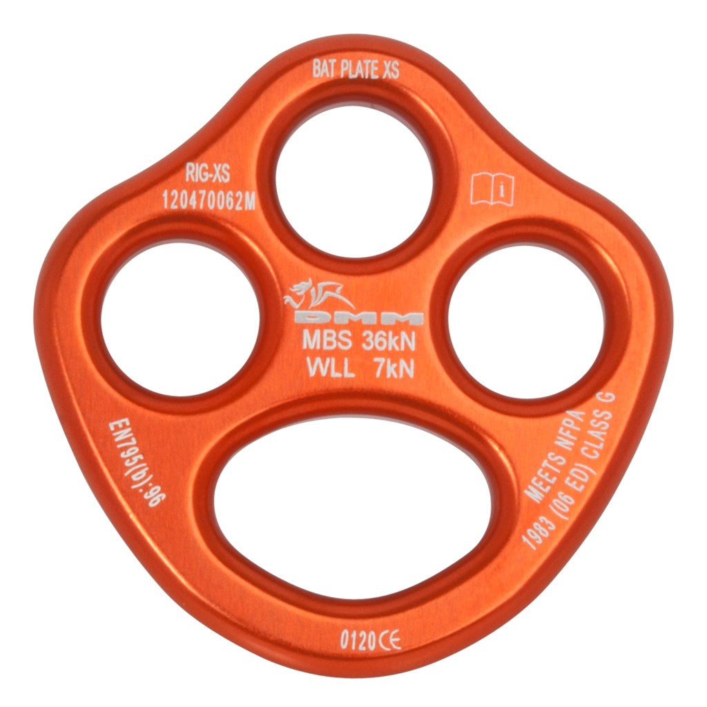 DMM Bat Rigging Plate XS (orange)