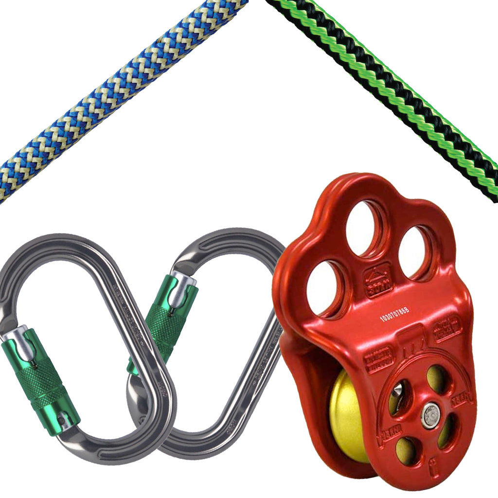 Hitch Climber Kit -  2 x Carabiners & Friction Cord