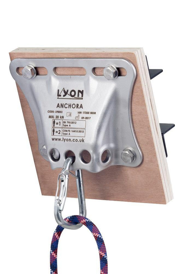 Lyon Anchora in use with a connector.