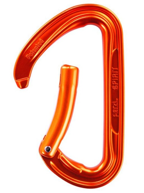 Petzl Spirit Curved Carabiner - Non Locking