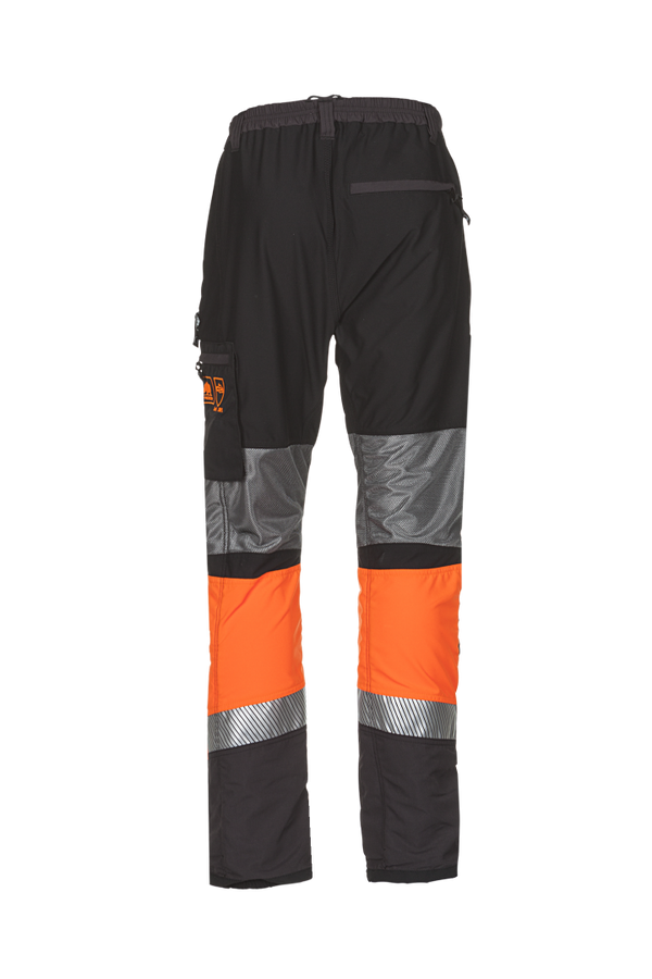 SIP Innovation Canopy W-AIr Type C Chainsaw Trousers showing rear view.