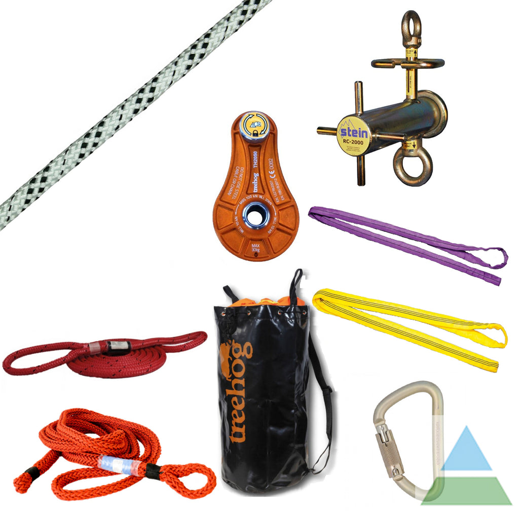 Showing the standard rigging kit's items.