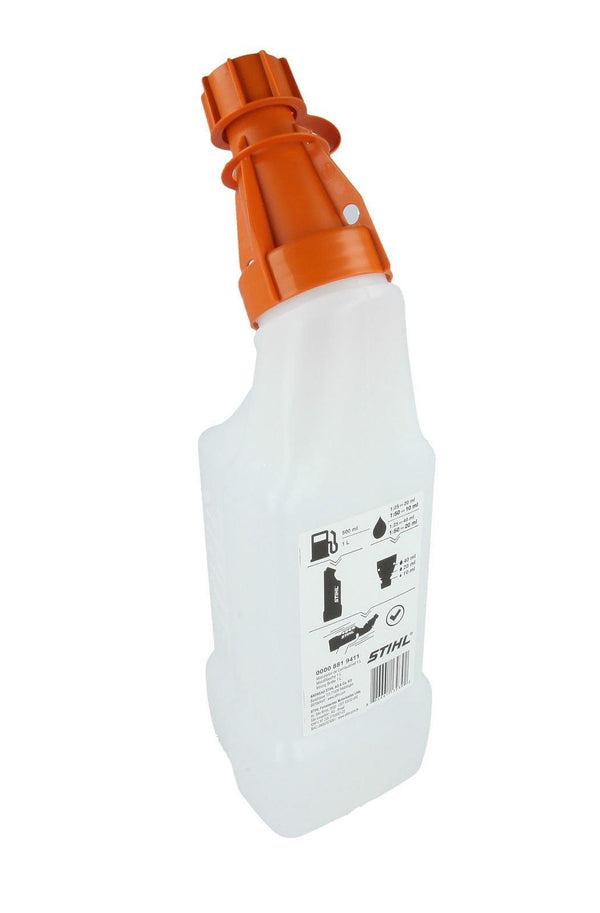 Stihl 1 Litre Mixing Bottle rear view,