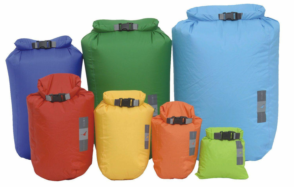 Showing all of the sizes of the Exped Fold Drybag BS.