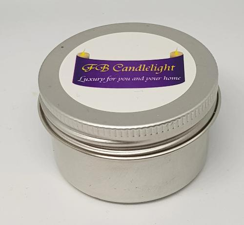 Small Candle Tin Woodsage and Sea Salt