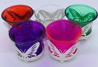 Butterfly t-light candle holder - Clear