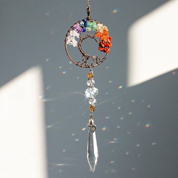 Chakra Tree of Life Suncatcher
