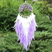 Load image into Gallery viewer, Amethyst Tree of Life LED Dream Catcher