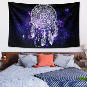 Mandala Night Sky Dream Catcher Tapestry