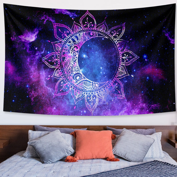 Crescent Moon Mandala Tapestry (Best Seller)