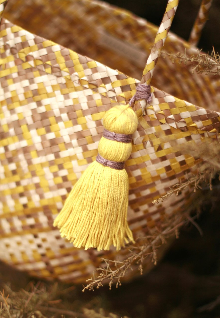 Coco Palm Straw Bag - Lemonade