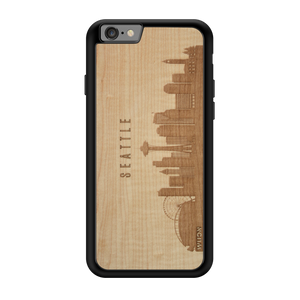 CityScape Wooden Phone Case | Seattle WA