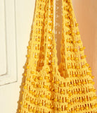 Kama Wooden Beads Crochet Bag Macrame Bag in Pale Yellow - 6 ?id=2233425494050