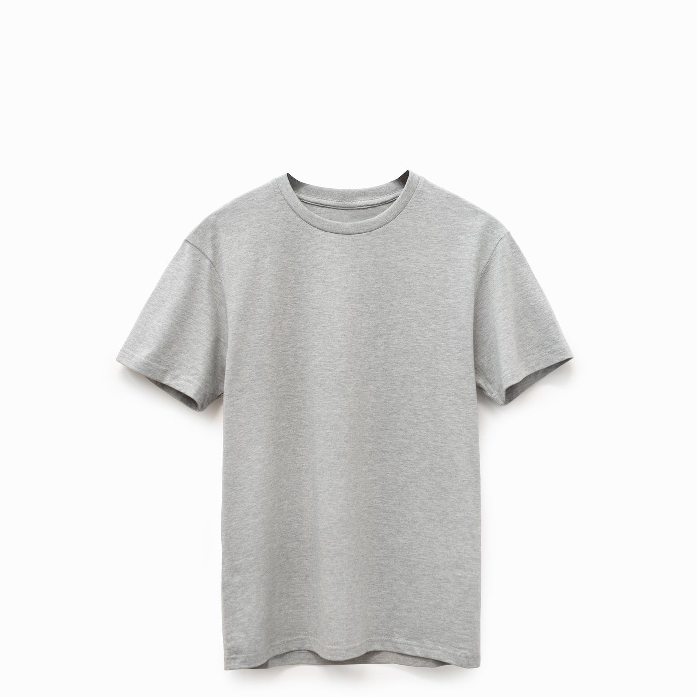 Gray American Grown Soft Supima® Cotton T-Shirt