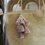 Borneo Sani Straw Tote Bag with Pale Blush Tassels