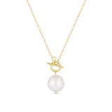 Pearl Toggle Gold Filled Necklace