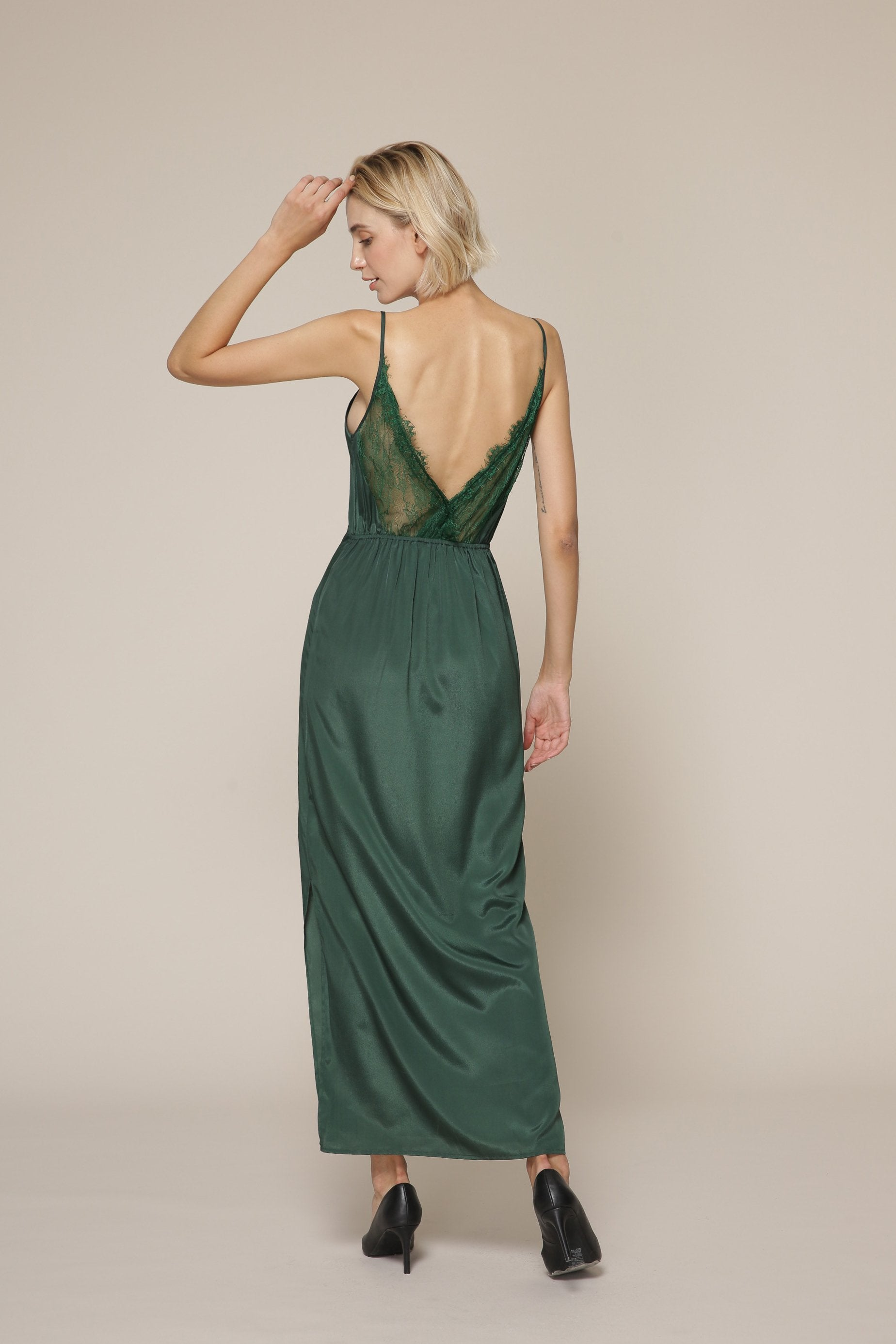 Green Camisole Maxi Dress