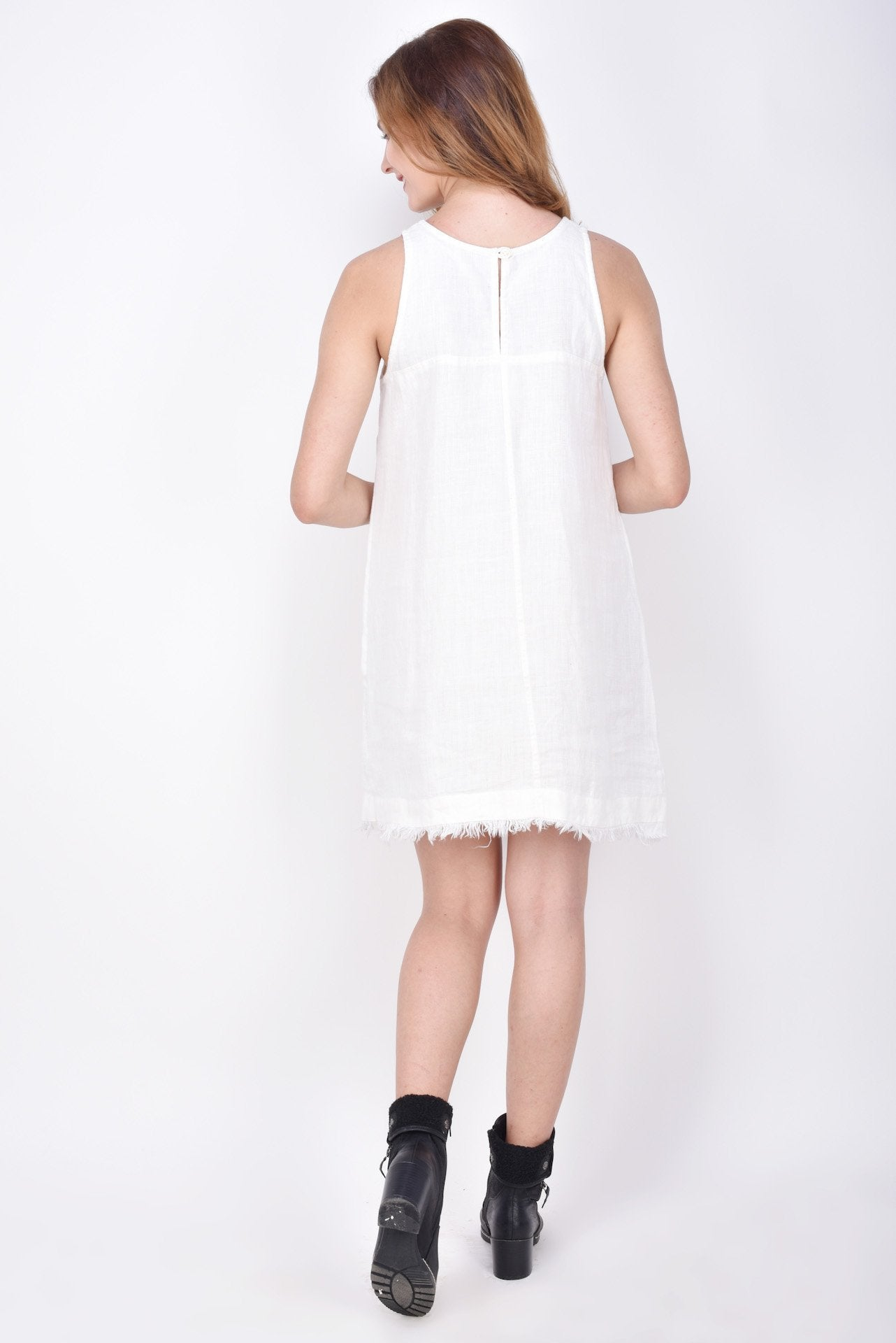 The Amey Dress In Linen
