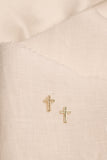 Cross 14K Gold Earring Studs