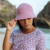 Florette Crochet Bucket Hat in Lilac Purple