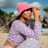 Florette Crochet Bucket Hat in Pink