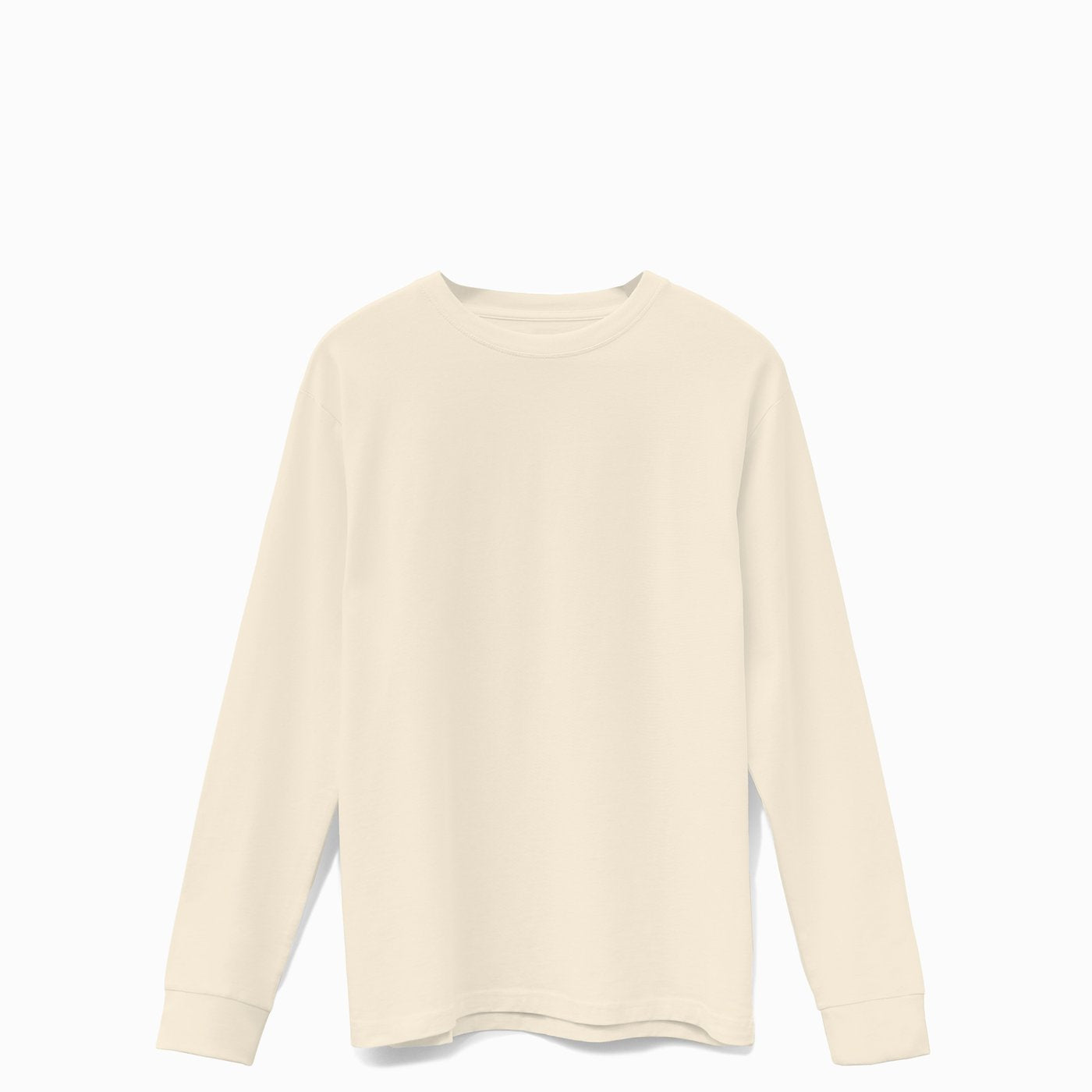 Beige American Grown Soft Supima® Cotton Men's Long Sleeve