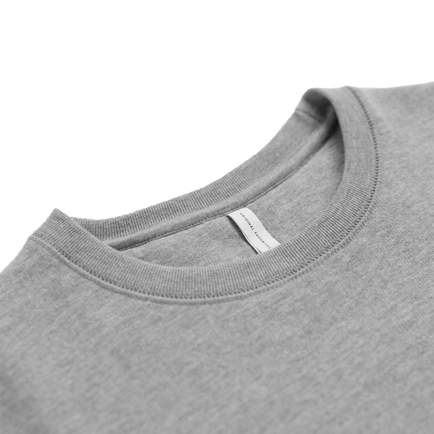 Heather Grey Organic Cotton Crewneck Men's Sweatshirt