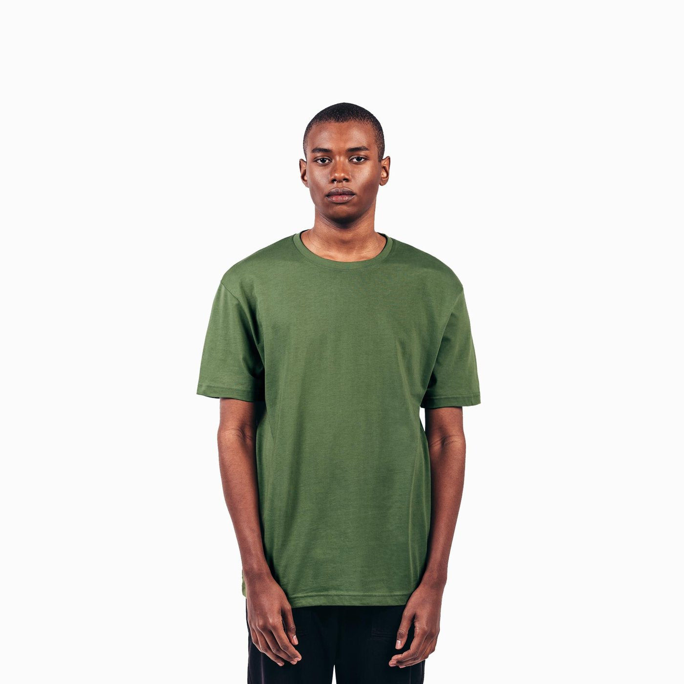 Olive Green American Grown Soft Supima® Cotton Men's T-Shirt