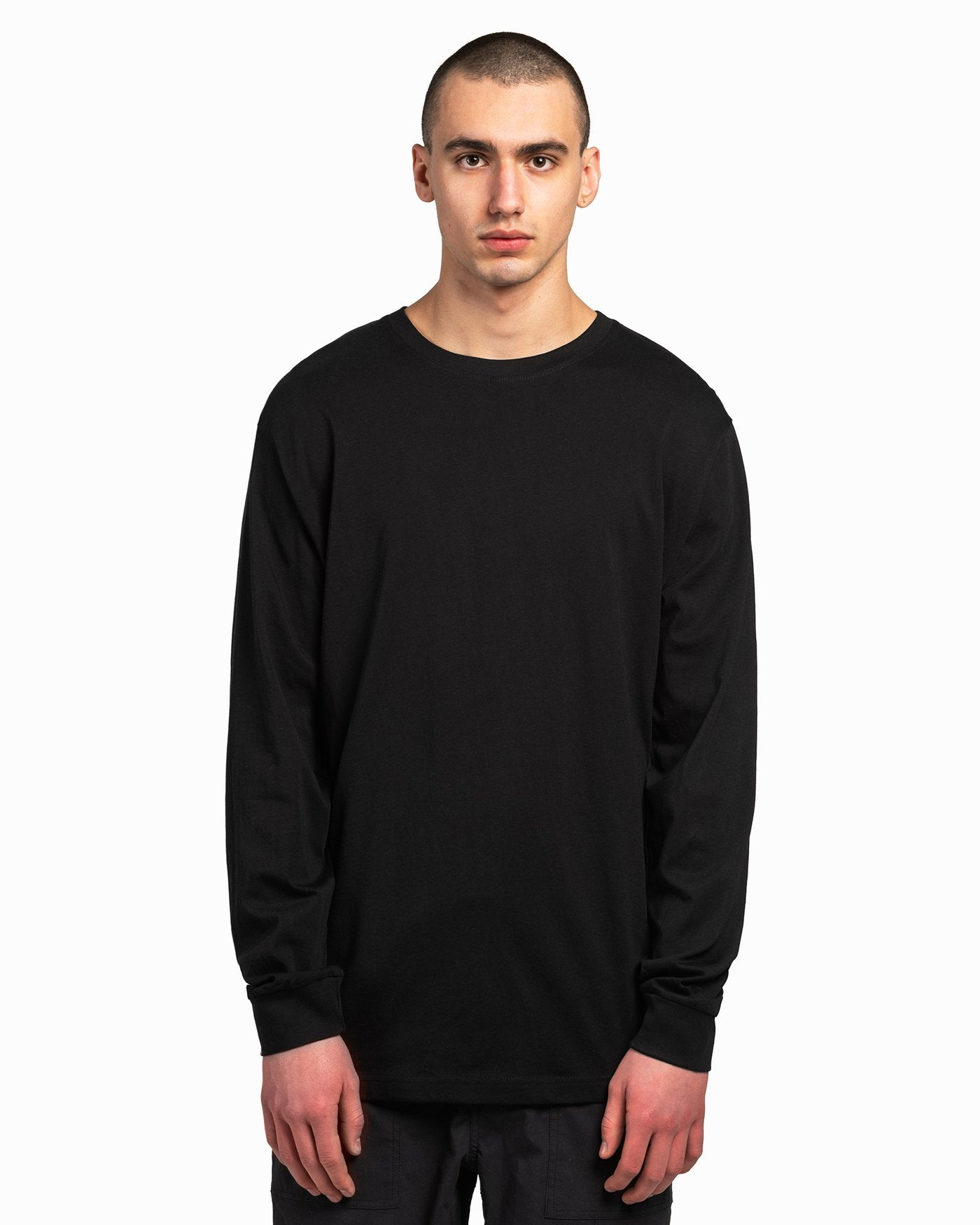 Black American Grown Soft Supima® Cotton Long Sleeve