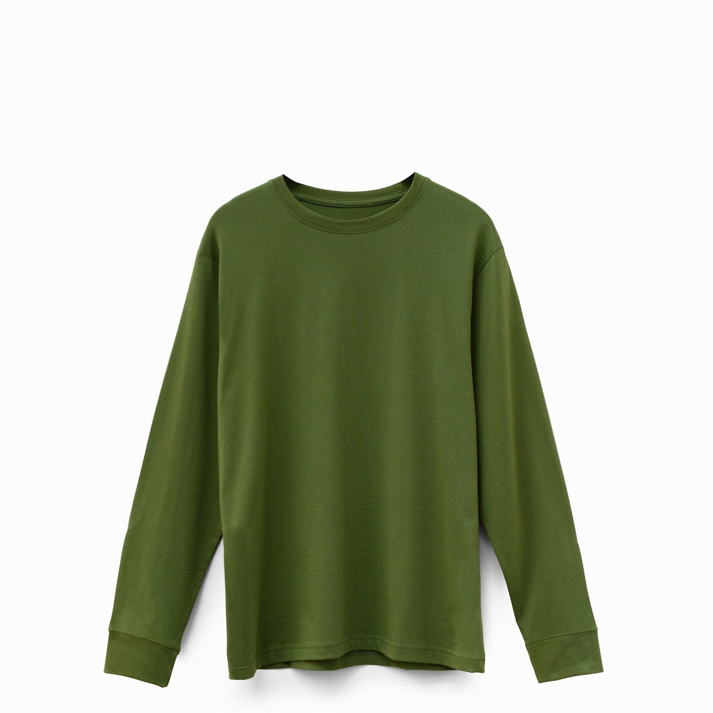 Olive Green American Grown Soft Supima® Cotton Long Sleeve