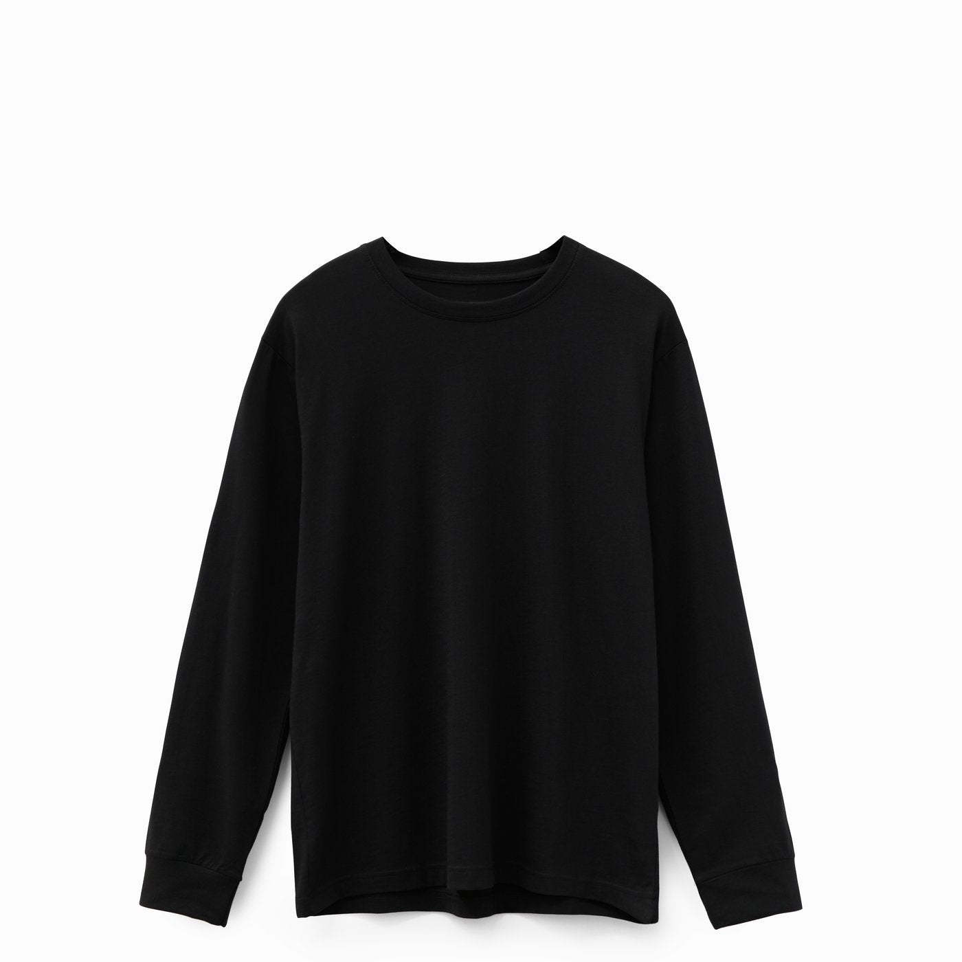 Black American Grown Soft Supima® Cotton Men's Long Sleeve