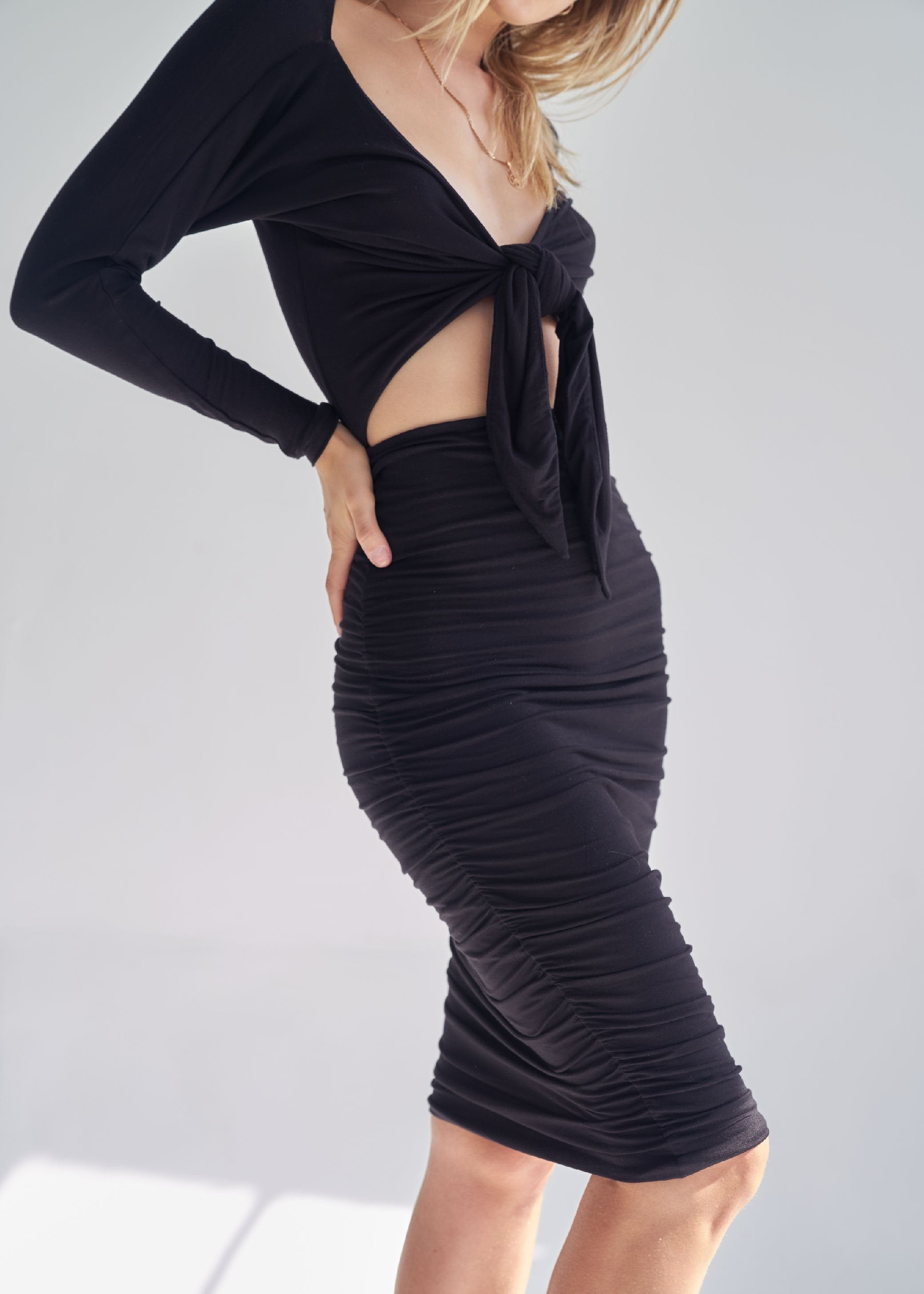 Black Le Opera Knit Dress