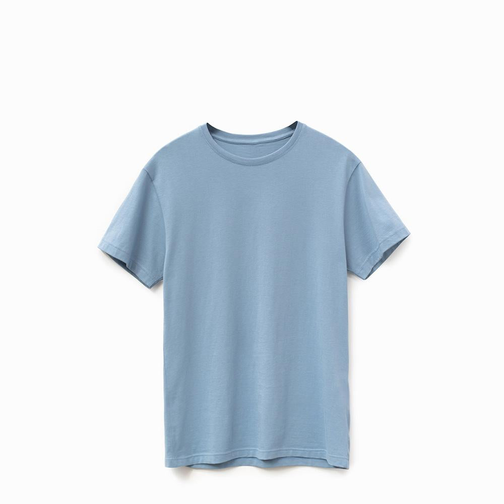 Cloudy Blue American Grown Soft Supima® Cotton Men's T-Shirt