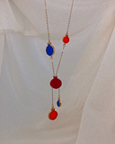 Armenian Pomegranate Necklace Red, Blue, Orange