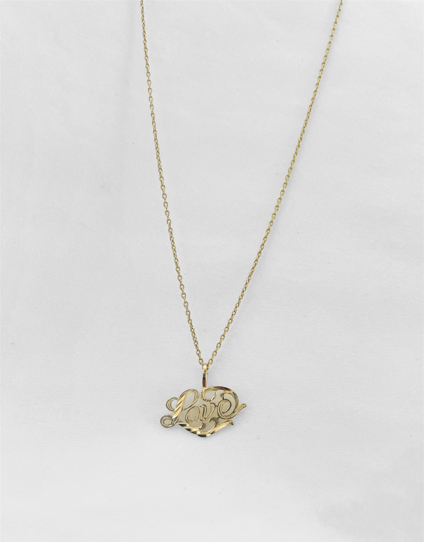 14Kt Golden Love Charm Necklace