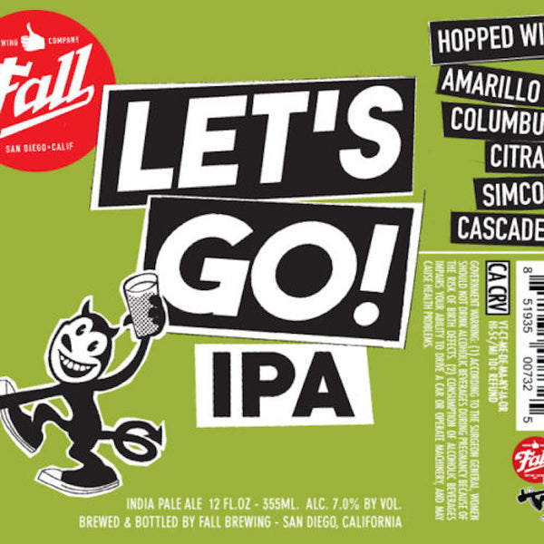 FALL BREWING COMPANY LET'S GO! IPA 6 PACK - ishopliquor