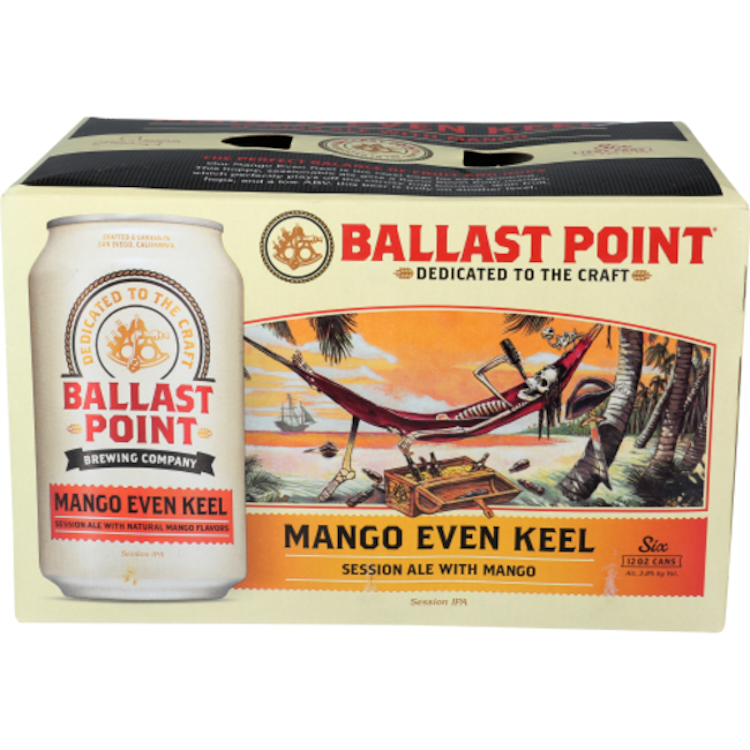 Ballast Point Mango Even Keel Session Ipa 6pack - ishopliquor