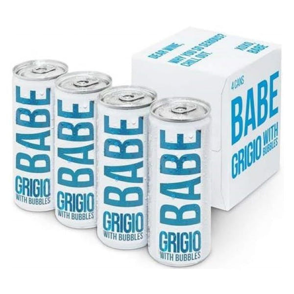 Babe Grigio With Bubbles 4 Pack - ishopliquor