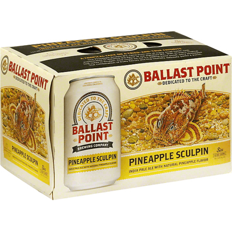 Ballast Point Pineapple Sculpin 6pack - ishopliquor