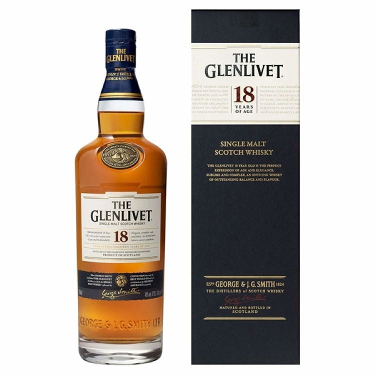 Glenlivet 18 Year Scotch - ishopliquor
