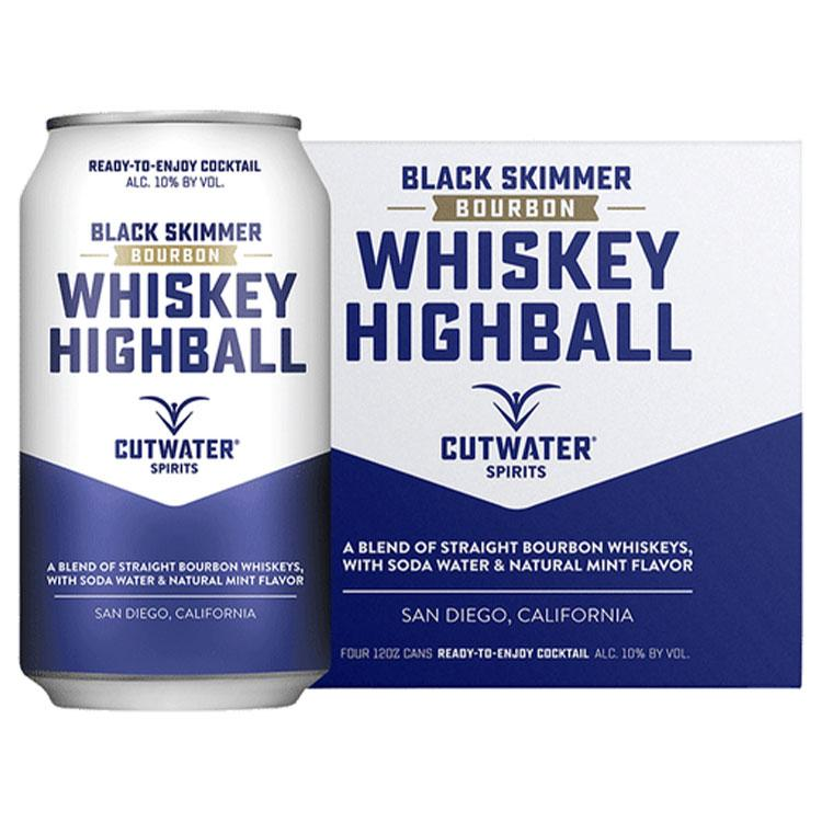 Cutwater Whiskey Highball Canned Cocktail 4pk - ishopliquor